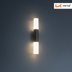 Bild der LED Wandleuchte Mila beleuchtet