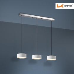 Bild der LED Pendelleuchte Lola Trio Weiß