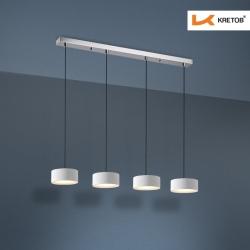 Bild der LED Pendelleuchte Lola Quattro Weiß