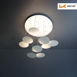 Bild der LED Pendelleuchte Quinn III beleuchtet