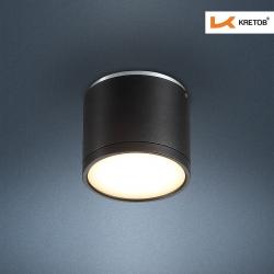 Bild des LED Aufbaustrahlers Tondo II Schwarz