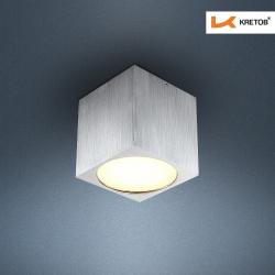Bild des LED Aufbaustrahlers Kubus Silber