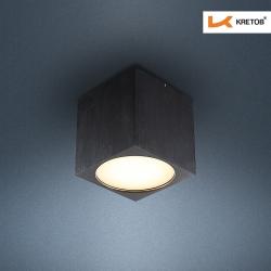 Bild des LED Aufbaustrahlers Kubus Schwarz