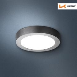 Bild des LED Aufbaustrahlers Bara I Schwarz