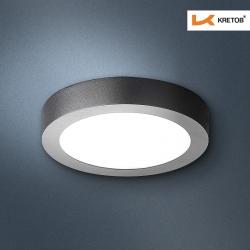 Bild des LED Aufbaustrahlers Bara II Schwarz