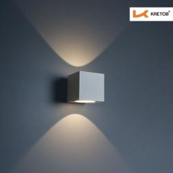 Bild der LED Wandleuchte Indira Weiß beleuchtet