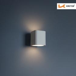 Bild der LED Wandleuchte Aroa Weiß beleuchtet