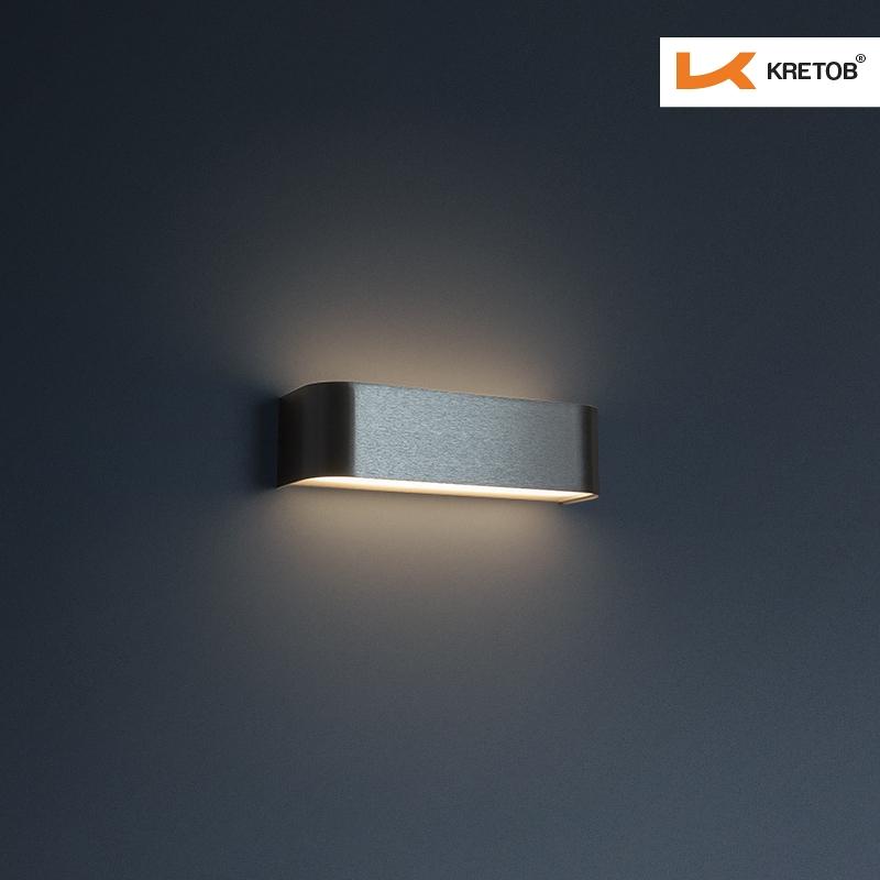 Bild der LED Wandleuchte Tamo I Silber beleuchtet