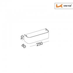 Skizze mit den Maßen der LED Wandleuchte Tamo I Silber