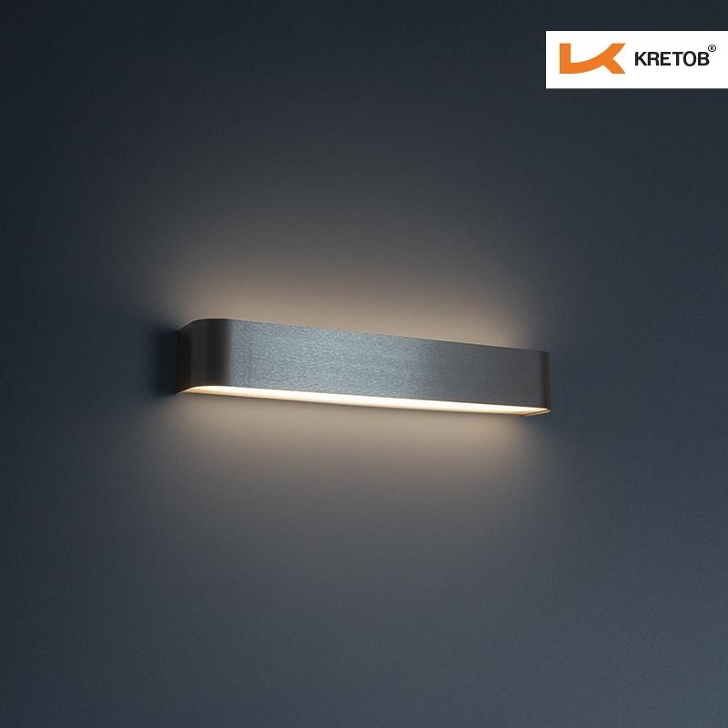 Bild der LED Wandleuchte Tamo II Silber beleuchtet