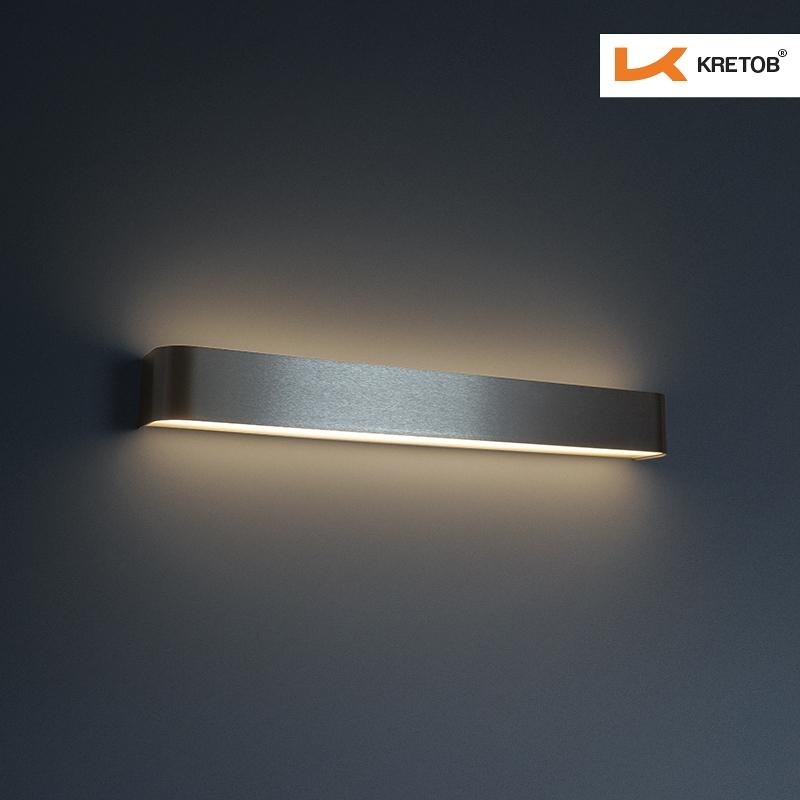 Bild der LED Wandleuchte Tamo III Silber beleuchtet