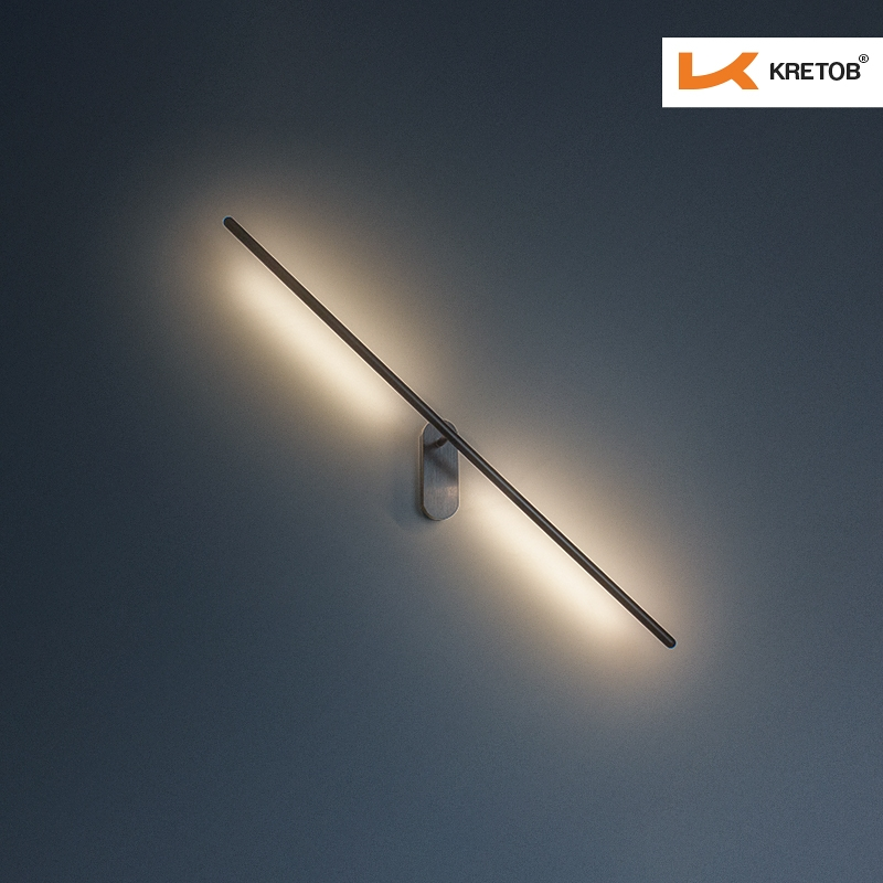 Bild der LED Wandleuchte Eta beleuchtet