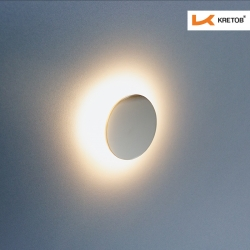 Bild der LED Wandleuchte LaVita Globe beleuchtet