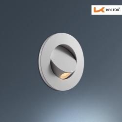 Bild der LED Wandleuchte Zypris Globe Weiß beleuchtet