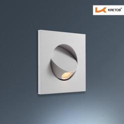 Bild der LED Wandleuchte Zypris Edge Weiß beleuchtet