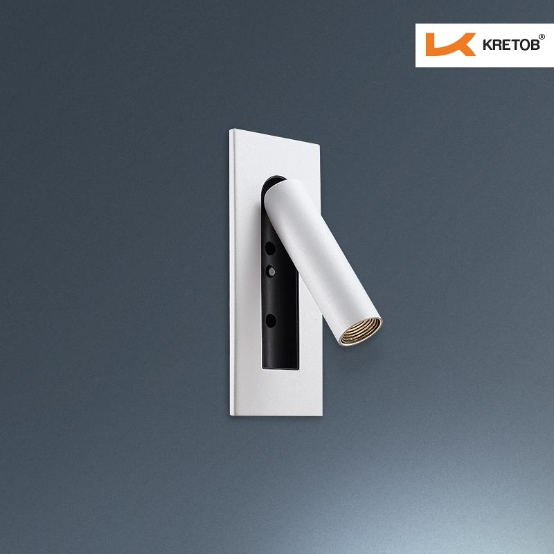 Bild der LED Wandleuchte Iread Weiß beleuchtet