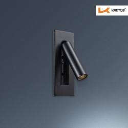 Bild der LED Wandleuchte Iread Schwarz beleuchtet