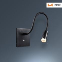Bild der LED Wandleuchte Toulouse Schwarz beleuchtet