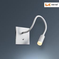 Bild der LED Wandleuchte Toulouse Weiß beleuchtet