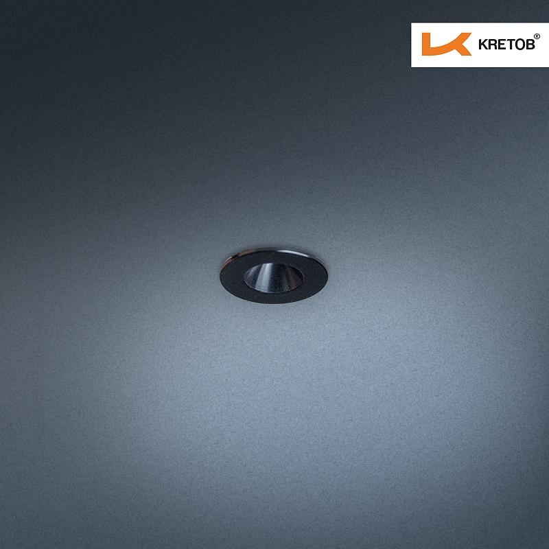 Bild des LED Einbaustrahlers Satura Ida in Schwarz