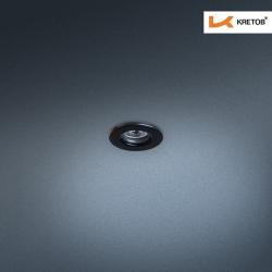 Bild des LED Einbaustrahlers Satura Kan in Schwarz