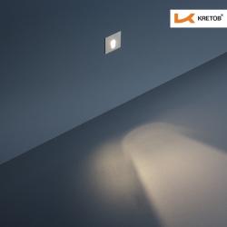 Bild der LED Wandleuchte Timea Edge beleuchtet aus der Ferne