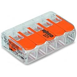 WAGO 221-415 COMPACT-Verbindungsklemme für alle Leiterarten 5-Leiter bis 4qmm